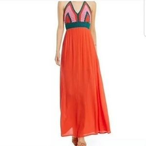 Gianni Bini Maxi Crochet Halter Dress